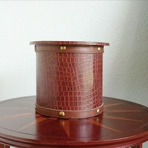 Gamjali StylHOME Accents - Faux Leather Croc Embossed Decorative Container